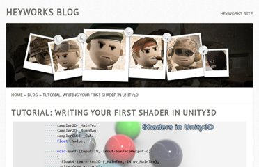 http://blog.heyworks.com/tutorial-writing-your-first-shader-in-unity3d/