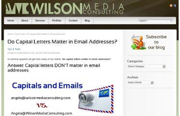 http://www.wilsonmediaconsulting.com/do-capital-letters-matter-in-email-addresses/