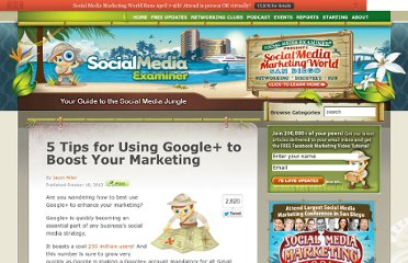 http://www.socialmediaexaminer.com/google-plus-to-boost-your-marketing/