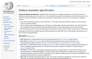 http://de.wikipedia.org/wiki/Publicly_Available_Specification