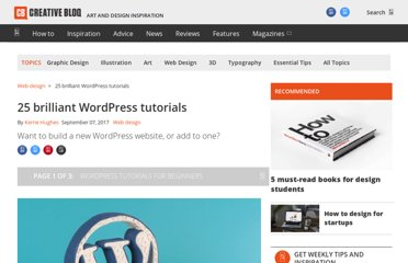 http://www.creativebloq.com/web-design/wordpress-tutorials-designers-1012990