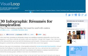 http://visualoop.com/2542/30-infographic-resumes-for-inspiration