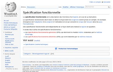 http://fr.wikipedia.org/wiki/Sp%C3%A9cification_fonctionnelle