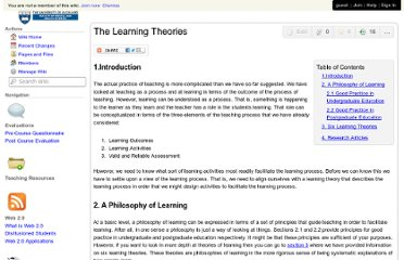 http://virtuallythere.wikispaces.com/The+Learning+Theories