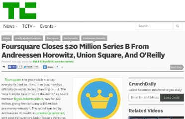 http://techcrunch.com/2010/06/29/foursquare-20-million/