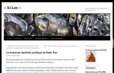 http://scinfolex.wordpress.com/2010/06/29/la-tortueuse-destinee-juridique-de-peter-pan/