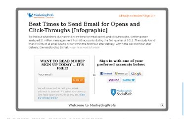 http://www.marketingprofs.com/chirp/2012/9174/best-times-to-send-email-for-opens-and-click-throughs-infographic