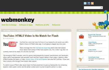 http://www.webmonkey.com/2010/06/youtube-html5-video-is-no-match-for-flash/