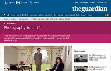 http://www.guardian.co.uk/artanddesign/2012/oct/19/photography-is-it-art