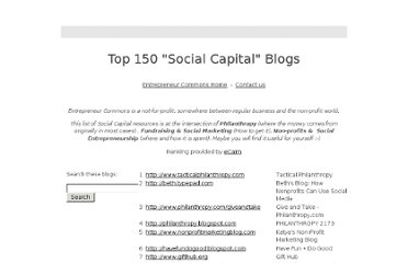 https://sites.google.com/site/entrepreneurcommons/top150socialcapitalblogs