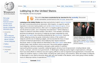http://en.wikipedia.org/wiki/Lobbying_in_the_United_States