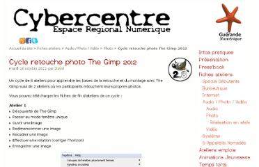 http://cyberguerande.free.fr/?Cycle-retouche-photo-The-Gimp-2012