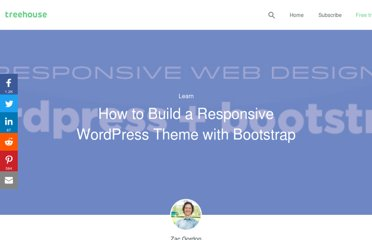 http://blog.teamtreehouse.com/responsive-wordpress-bootstrap-theme-tutorial
