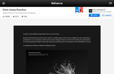 http://www.behance.net/gallery/Form-minus-Function/193618