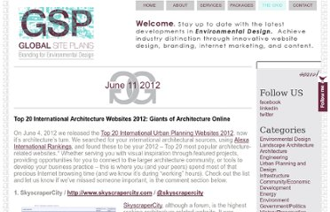 http://www.globalsiteplans.com/environmental-design/top-20-international-architecture-websites-2012-giants-of-architecture-online/