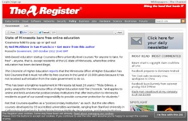 http://www.theregister.co.uk/2012/10/19/minnesota_bans_free_online_education/