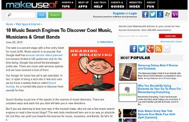 http://www.makeuseof.com/tag/10-music-services-search-engines-discover-music-musicians-bands/