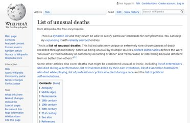 https://en.wikipedia.org/wiki/List_of_unusual_deaths