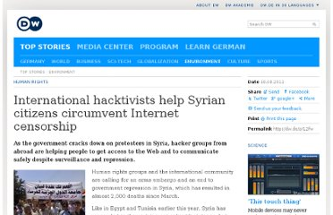 http://www.dw.de/international-hacktivists-help-syrian-citizens-circumvent-internet-censorship/a-15324784-1