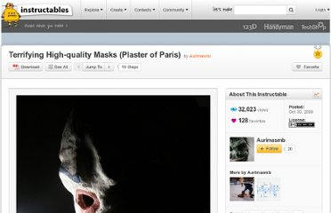 http://www.instructables.com/id/Terrifying-High-quality-Plaster-of-Paris-Masks/