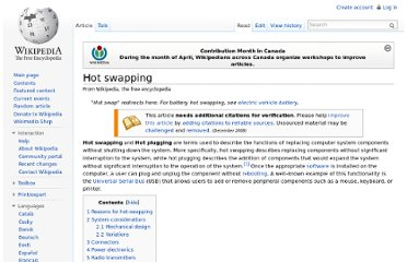 http://en.wikipedia.org/wiki/Hot_swapping