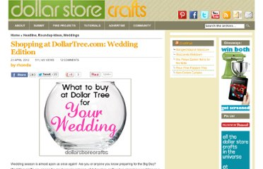 http://dollarstorecrafts.com/2012/04/shopping-at-dollartree-com-wedding-edition/