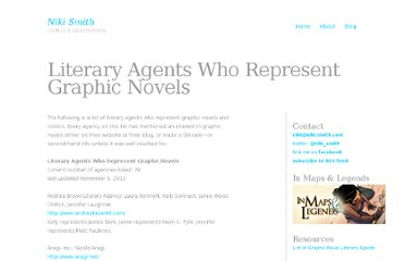 http://niki-smith.com/about/graphic-novel-agents/