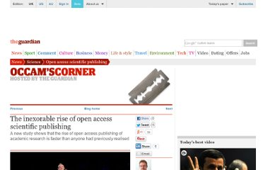 http://www.guardian.co.uk/science/occams-corner/2012/oct/22/inexorable-rise-open-access-scientific-publishing