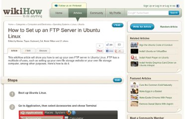 http://www.wikihow.com/Set-up-an-FTP-Server-in-Ubuntu-Linux