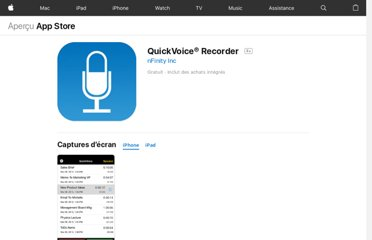 https://itunes.apple.com/fr/app/quickvoice-recorder/id284675296?mt=8