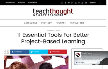 http://www.teachthought.com/learning/project-based-learning/11-tools-for-better-project-based-learning/