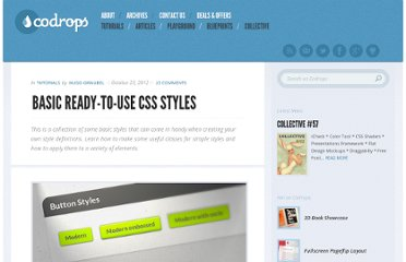 http://tympanus.net/codrops/2012/10/23/basic-ready-to-use-css-styles/