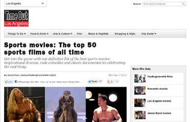 http://www.timeout.com/los-angeles/film/sports-movies-the-top-50-sports-films-of-all-time