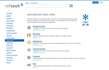 http://www.refseek.com/directory/educational_videos.html