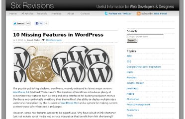 http://sixrevisions.com/wordpress/10-missing-features-in-wordpress/