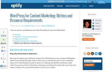 http://www.optify.net/inbound-marketing/wordpress-for-content-marketing-metrics-and-resource-requirements