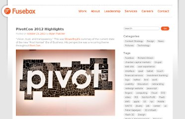 http://www.fusebox.com/2012/10/pivotcon-2012-highlights/