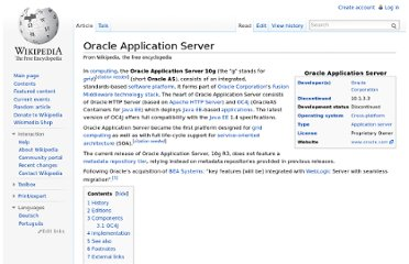 http://en.wikipedia.org/wiki/Oracle_Application_Server