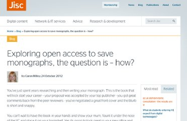 http://www.jisc.ac.uk/blog/monographs/