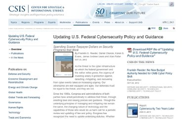 http://csis.org/publication/updating-us-federal-cybersecurity-policy-and-guidance