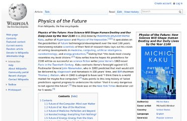 http://en.wikipedia.org/wiki/Physics_of_the_Future
