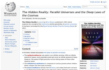 http://en.wikipedia.org/wiki/The_Hidden_Reality:_Parallel_Universes_and_the_Deep_Laws_of_the_Cosmos