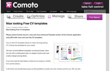 http://www.comoto.com/manage/cv-template-gallery/nice-looking-templates