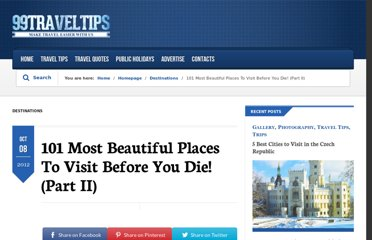 http://www.99traveltips.com/travel-tips/top-places-to-visit-before-you-die-part-ii/