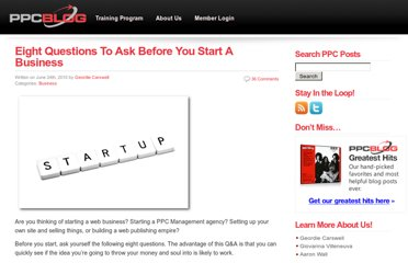 http://ppcblog.com/eight-questions-to-ask-before-you-start-a-business/