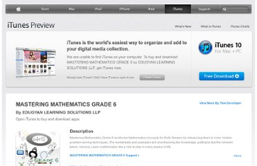 https://itunes.apple.com/us/app/mastering-mathematics-grade/id374159310?mt=8