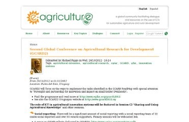 http://www.e-agriculture.org/events/second-global-conference-agricultural-research-development-gcard2