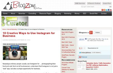 http://www.iblogzone.com/2012/10/10-creative-ways-to-use-instagram-for-business.html
