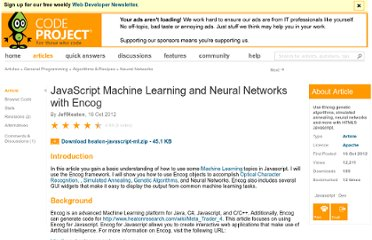 http://www.codeproject.com/Articles/477689/JavaScript-Machine-Learning-and-Neural-Networks-wi