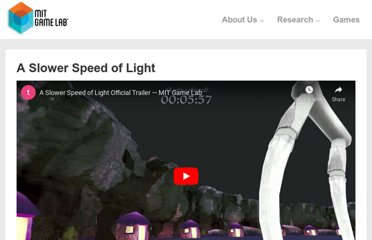 http://gamelab.mit.edu/games/a-slower-speed-of-light/